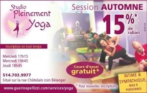 Guerina Pellizzi - Studio Pleinement Yoga - Cours automne 2015